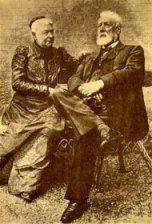Verne y su esposa